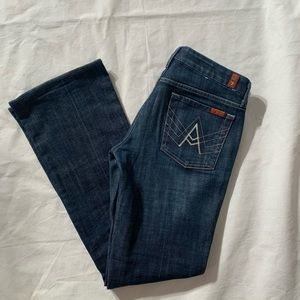"""7 For All Mankind Size 28 A Pocket Inseam 32"""""""